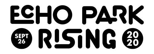 Echo Park Rising logo - black lettering on white background